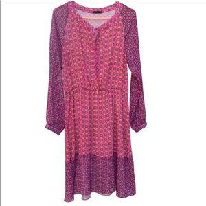 3/$30 Tempo long sleeve floral dress medium